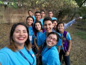 Juigalpa Leos pose for selfie after a long day working in the clinic