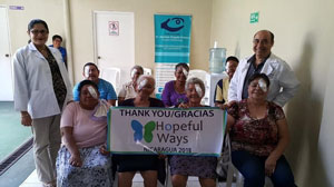 Hopeful Ways partners with the non-profit eye surgery clinic FONIPRECE to provide eye surgeries to the poor.